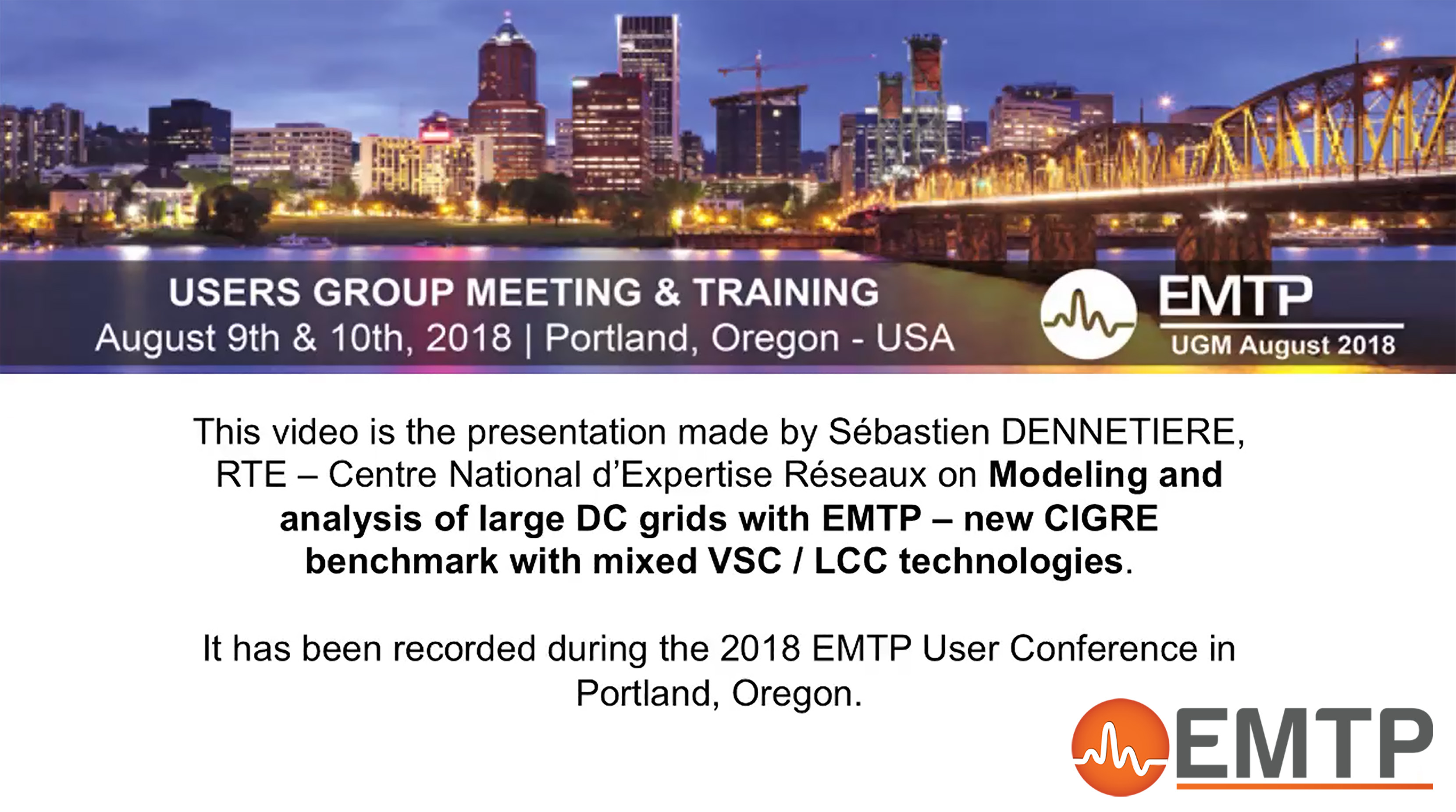 Modeling and analysis of large dc grids with emtp – new cigre benchmark with mixed vsc / lcc technologies