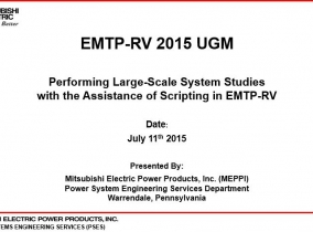 Performing Large-Scale System Studies with the Assistance of Scripting in EMTP-R