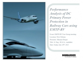Performance Analysis of DC Primary Power Protection in Railway Cars using EMTP-R