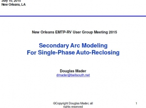 Secondary Arc Modeling Single-For Phase Auto-Reclosing