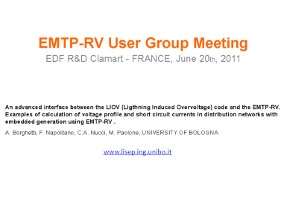 [LIOV]_An advanced interface between the Lightning Induced Overvoltage Code (LIOV) and EMTP-RV