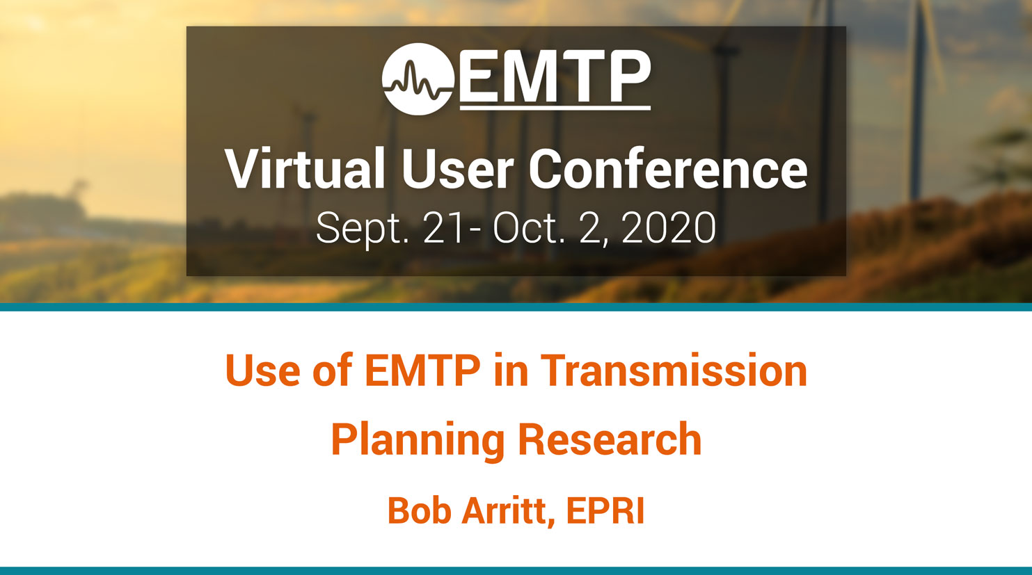 EMTP Virtual User Conference 2020