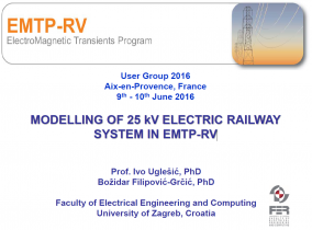 Modelling of 25 kV Electric Railway System in EMTP-RV