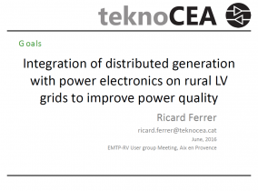 Integration of distributed generation with power electronics on rural LV grids to improve power quality grids