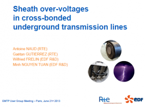 [Lines]_Sheath over-voltages in cross-bonded underground transmission lines