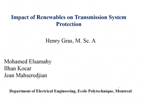 Impact of Renewables on Transmission System Impact of Renewables on Transmission
