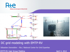 DC grid modeling with EMTP-RV