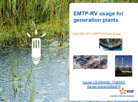 EMTP-RV usage for generation plants