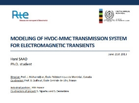 [HVDC]_MODELING OF HVDC-MMC TRANSMISSION SYSTEM FOR ELECTROMAGNETIC TRANSIENTS