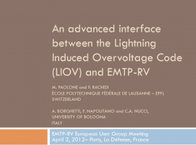 LIOV - An advanced interface between the Lightning Induced Overvoltage Code (LIOV) and EMTP-RV