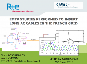 [Network_Analysis]_EMTP studies performed to insert long AC cables in the French grid