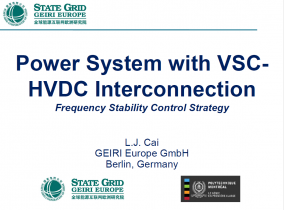 Power System with VSC-HVDC Interconnection