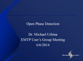 EMTP-RV : Open Phase Detection